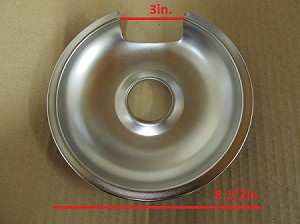 Large GE 8in Drip Pan