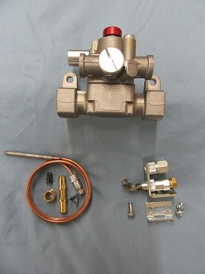 Thermomagnetic Safety Valve with thermocouple and pilot assembly pack